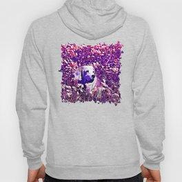 beagle dog flower field vector art purple Hoody