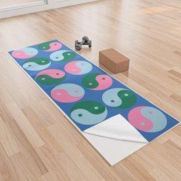 Yin and Yang in Blue Yoga Towel