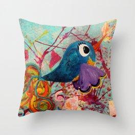 Fancy - Quirky Bird Series Throw Pillow