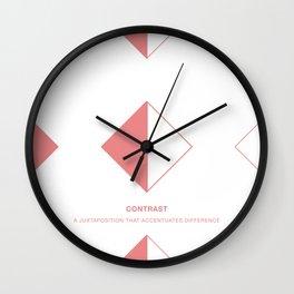 Design Principle SEVEN - Contrast Wall Clock
