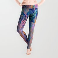 coral Leggings featuring Coral Reef by Nikkistrange