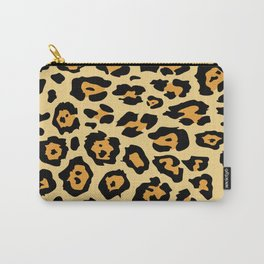 safari animal brown and tan cheetah leopard print Carry-All Pouch