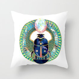 Egyptian Scarab Throw Pillow