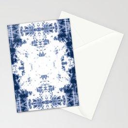 Shibori Tie Dye 5 Indigo Blue Stationery Cards