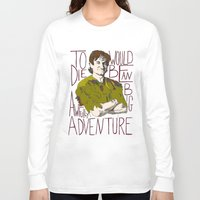 robin williams Long Sleeve T-shirts featuring Robin Williams Hook Peter Pan Quote  by kdwdesigns