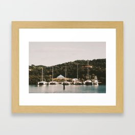 Boats of Roatan Framed Art Print