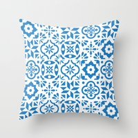 spanish Throw Pillows featuring Spanish Tiles by Morris & Essex