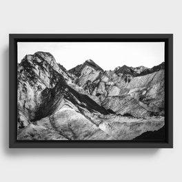 Black Dust on Solheimajokull Framed Canvas