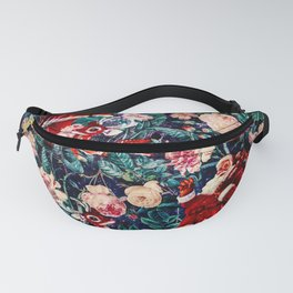 Santa Claus and Floral Pattern Fanny Pack