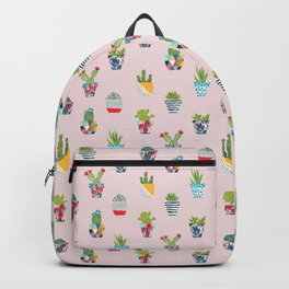 Funny cacti illustration Backpack