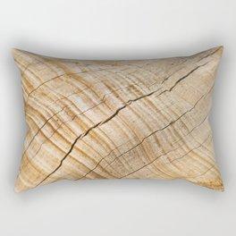 Weathered Wood Grain Rectangular Pillow