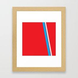 Red Slant Framed Art Print