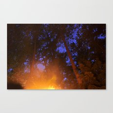 Fire in the Twilight Canvas Print