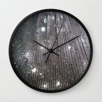 sparkles Wall Clocks featuring Sparkles by Jacqueline Obispo