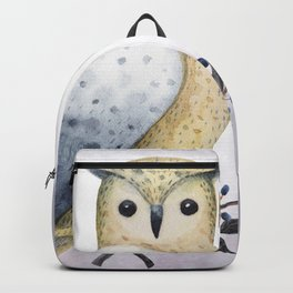 A Long Eared Owl On A Laurel Backpack