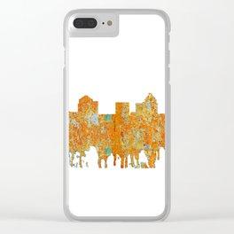 Greensboro, NC Skyline - Rust Clear iPhone Case