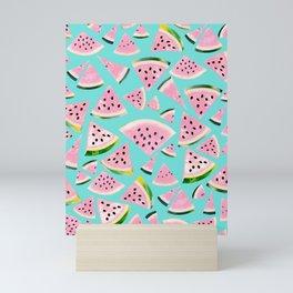 Watermelon Twist Vibes #2 #tropical #fruit #decor #art #society6 Mini Art Print