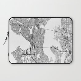 Seattle White Map Laptop Sleeve