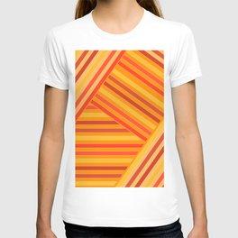 Orange - yellow stripes T-shirt