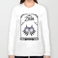 majoras mask Long Sleeve T-shirts featuring Zelda legend - Majora's mask by Art & Be