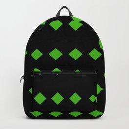 Kelly Green Diamonds w/Black Background Backpack