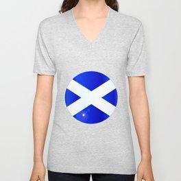 Scotish Flag Button Unisex V-Neck