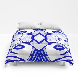Blue morning - abstract decorative pattern Comforters