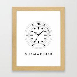 Rolex Submariner (Submariner) Framed Art Print