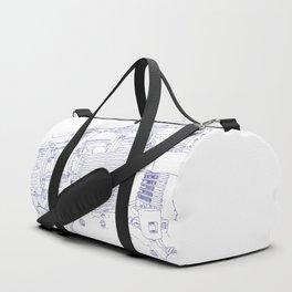 bonney drawing blue Duffle Bag