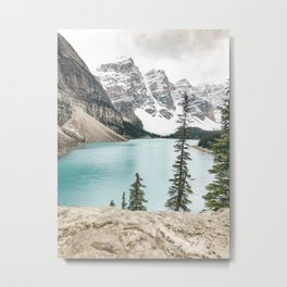 Peaceful Moment at Moraine Lake Metal Print