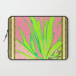 Chartreuse Plant Foliage Pink-Grey Patterns Laptop Sleeve