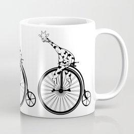 Giraffe Riding A Penny-Farthing Bicycle Coffee Mug