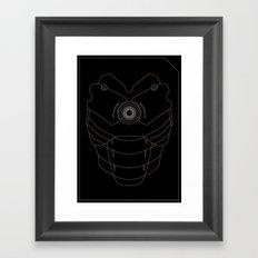 Iron Man Amrour Framed Art Print