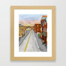 Mainstreet Brunswick, MD Framed Art Print