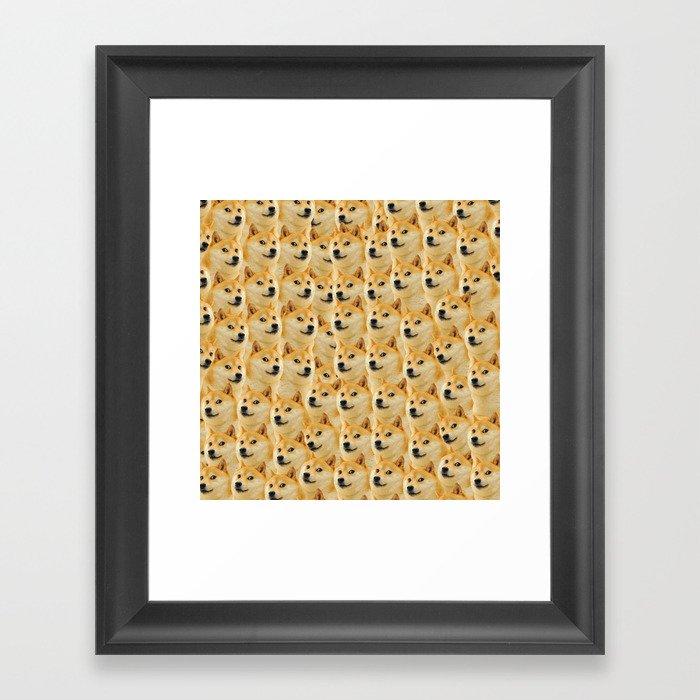 shibe doge fun and funny meme adorable Gerahmter Kunstdruck