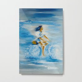 Sea cycling Metal Print