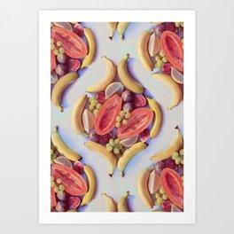 Fruit Salad - a tropical pattern  Art Print