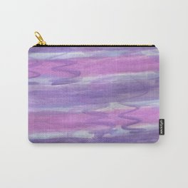 Purple Waves Carry-All Pouch