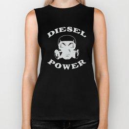 Diesel Power Gas Mask Skull Truck Offroad Silver Biker Tank