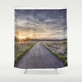 Sunset at Eagle Crest Shower Curtain