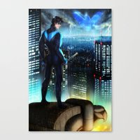 nightwing Canvas Prints featuring Nightwing by Cielo+
