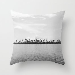San Blas Islands, Panama - Black & White Throw Pillow