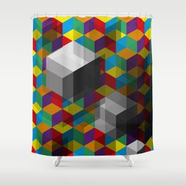 Isometric Colour Shower Curtain