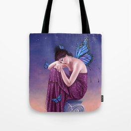 Sunset Monarch Butterfly Fairy Tote Bag