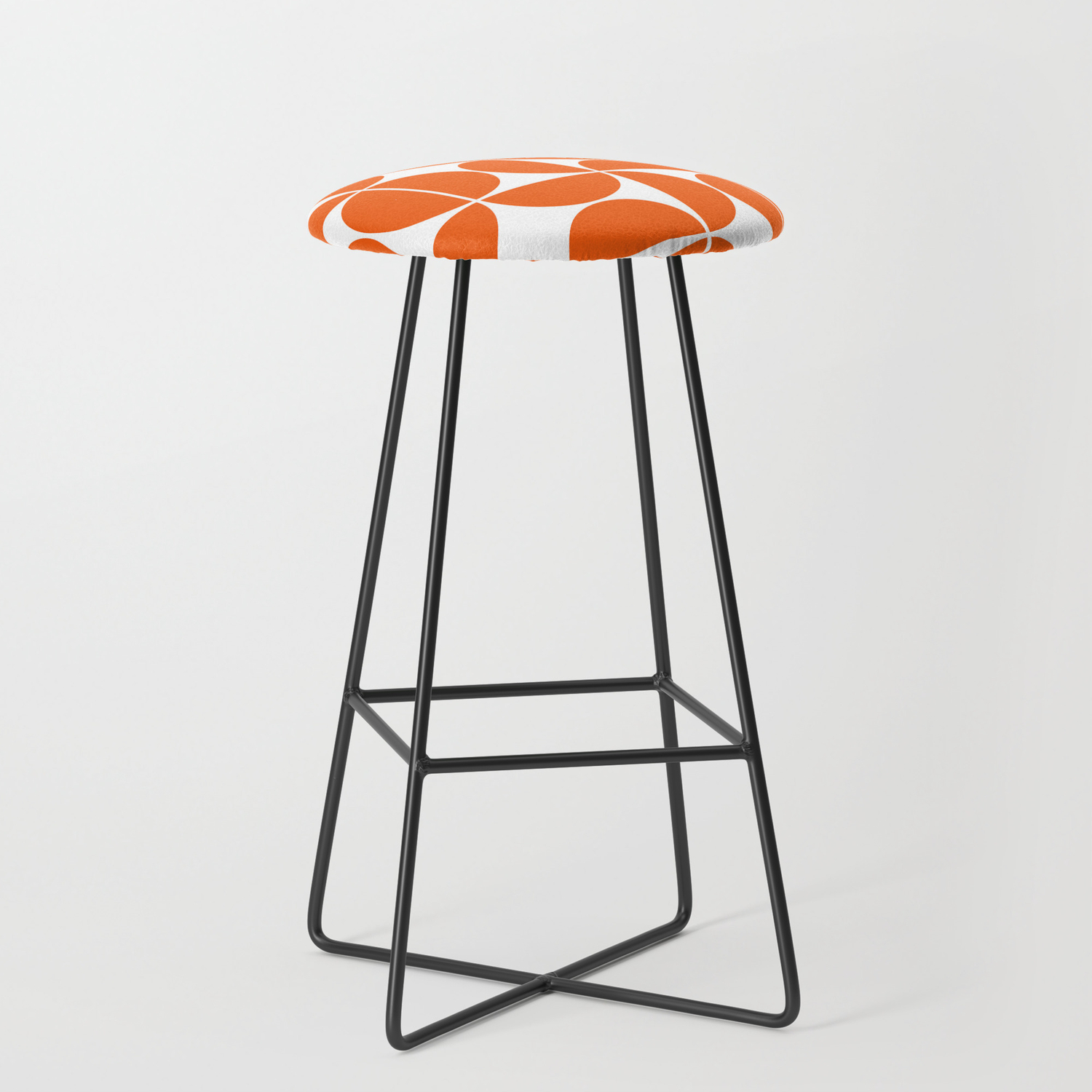 Mid Century Modern Geometric 04 Orange Bar Stool By Theoldartstudio Society6
