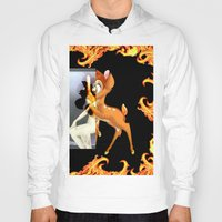 givenchy Hoodies featuring Givenchy scarf with flame and bambi print by Le' + WK$amahoodT Boutique by Paynasa®