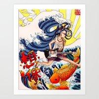 Geisha Guitarist  Art Print