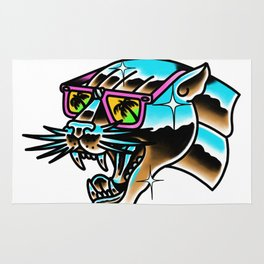 Chrome panther Rug