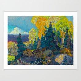 Canadian Landscape Franklin Carmichael Art Nouveau Post-Impressionism Autumn Hillside Art Print
