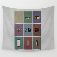 fringe Wall Tapestries featuring Fringe (colors) by avoid peril